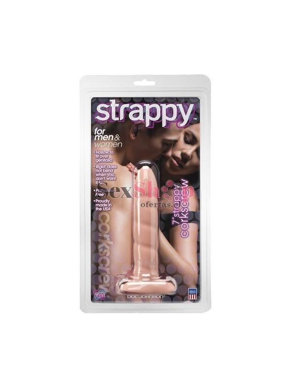 protesis strappy 7 pulgadas corkscrew