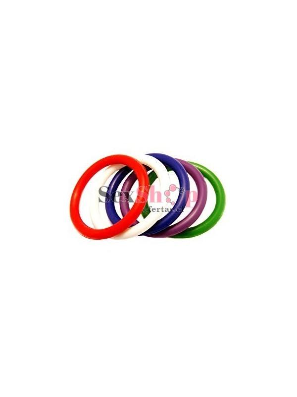 Set Multicolor de 5 Anillos