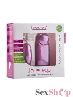 Huevito Vibrador Love Egg rosado caja