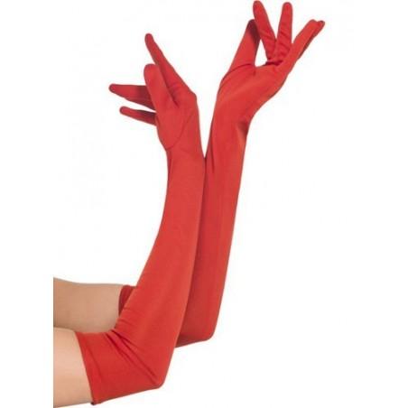 guantes eroticos rojo