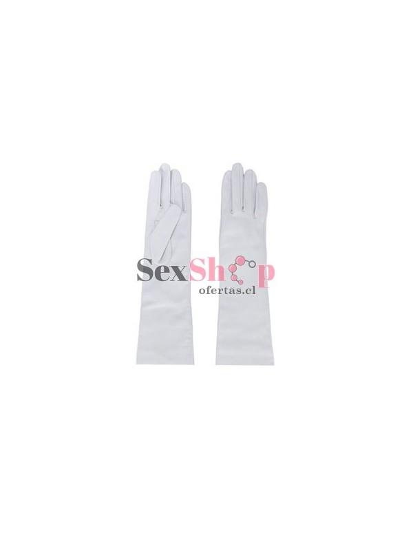 guantes eroticos blancos