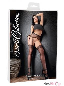 Portaligas Erotico Encajes Negros  T: 2