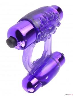 Anillo vibrador doble Fatasy C-Ringz diagonal