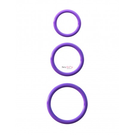 Set anillos triple silicona Fantasy C-Ringz presentacion
