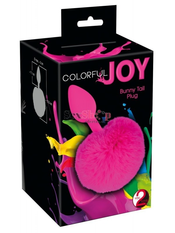 Cola de Zorro de silicona Colorful Joy caja