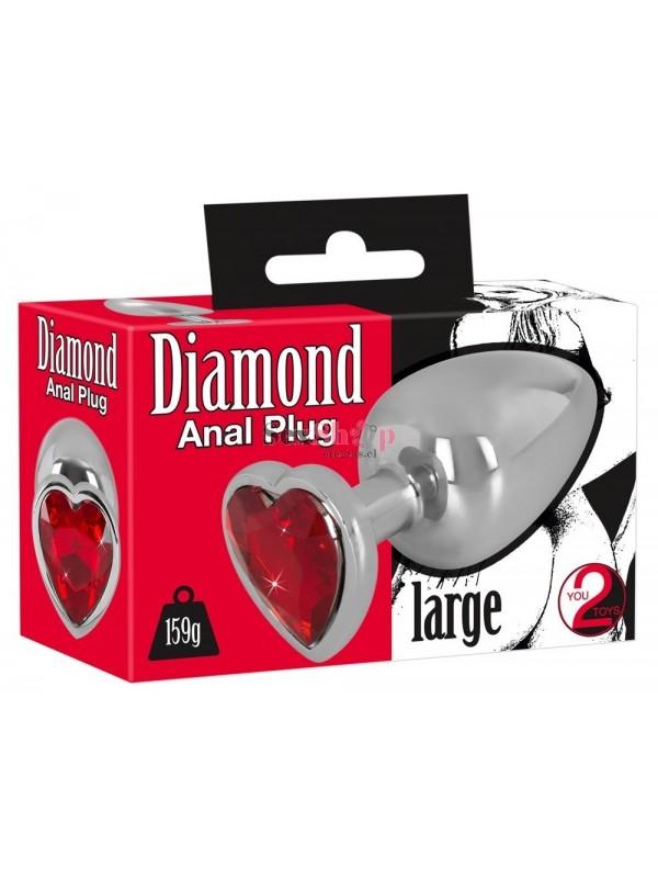 Plug anal metalico Diamond