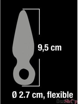 Plug anal cristal de silicona medidas